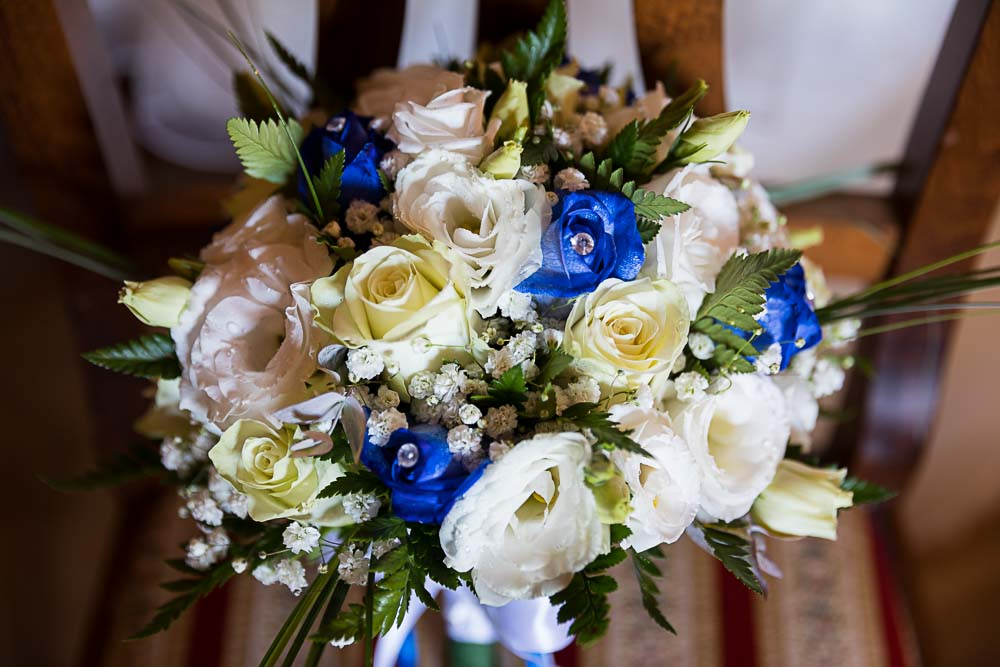 Bridal flower bouquet closeup