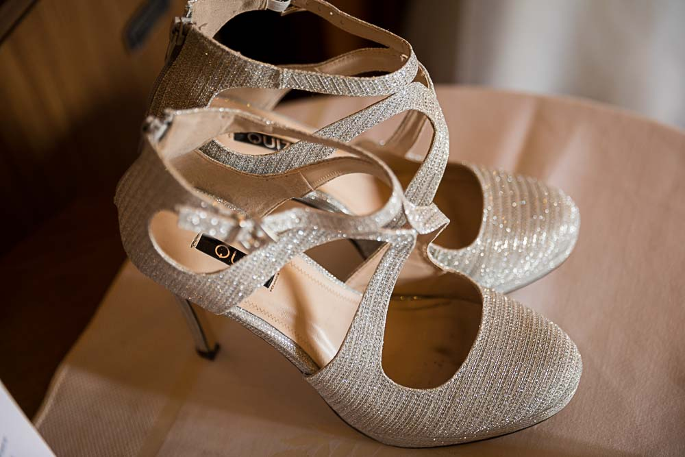 Bridal shoes close up