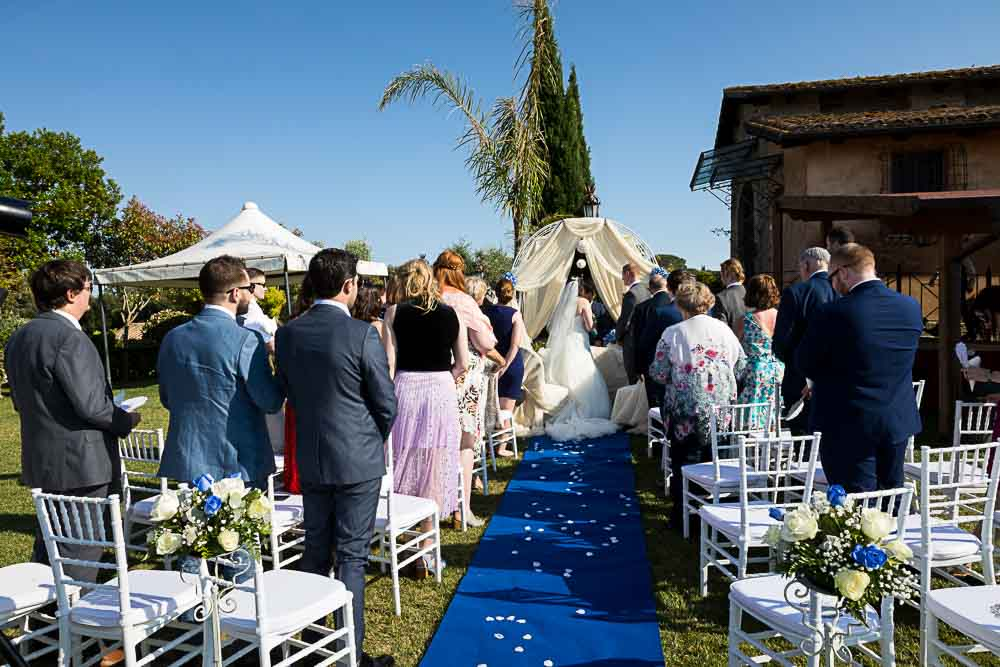 The wedding venue gathering with guests