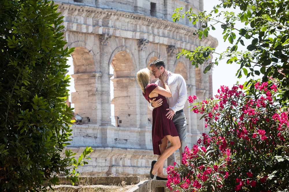 Couple on a honeymoon photo session in Rome Italy