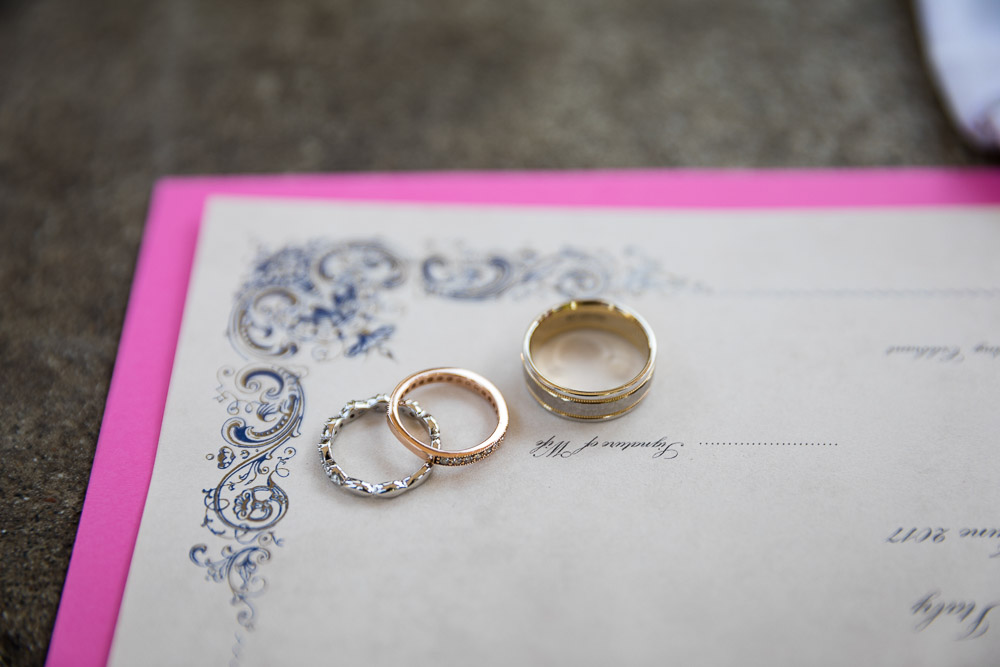 Wedding rings still life image