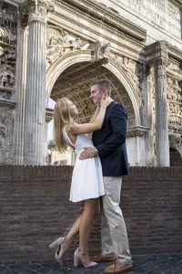 Roman arch engagement session