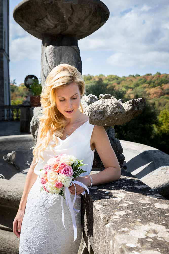 Bridal portrait in the outside courtyard