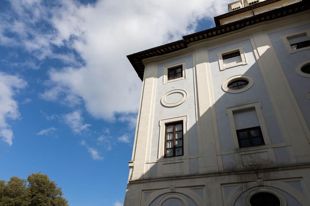 Palazzo Chigi outside view with shadows