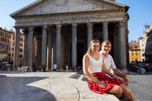 Sitting down portrait at the Pantheon