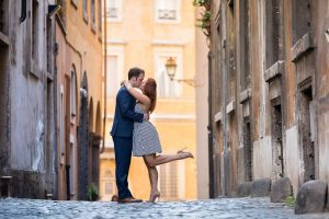 Cobble stone streets perfect to take engagement images in celebration