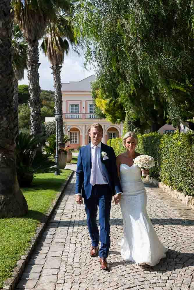 Enter bride and groom villa view