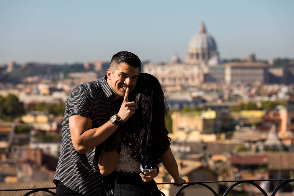 Shh secret wedding marriage proposal in Rome Italy