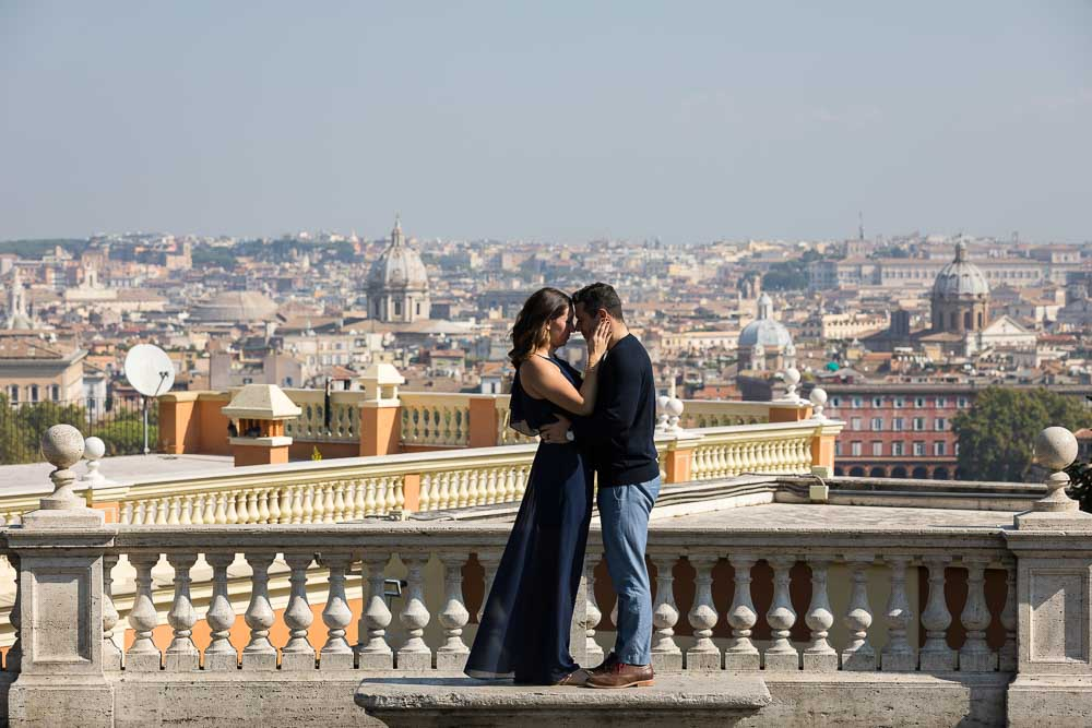 Final picture. Honeymoon photo session overlooking Rome Italy.