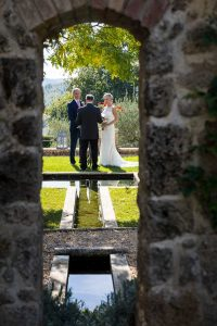 The wedding ceremony in the garden