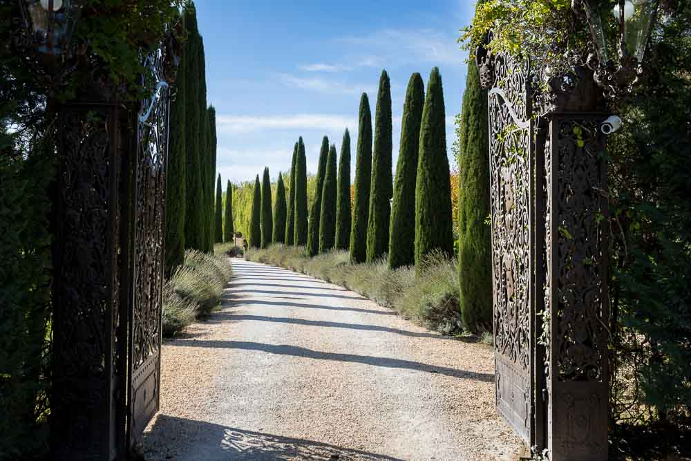 The entrance to the Tuscany Villa Estate