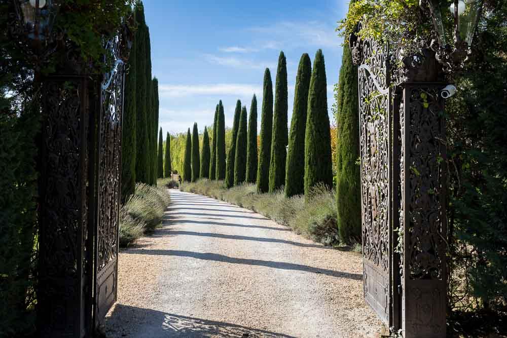 The entrance to the Tuscany Villa Estate