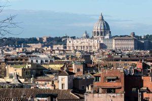 The roman skyline Rome Italy
