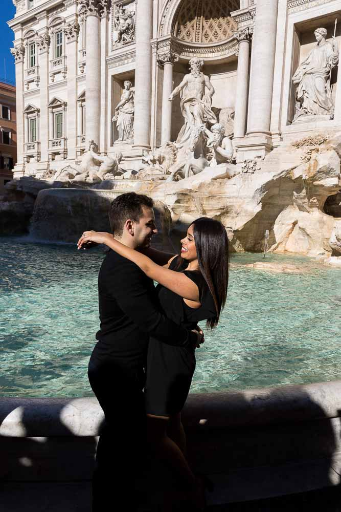 Trevi fountain photo shoot engagement photography