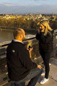 Wedding proposal surprise effect