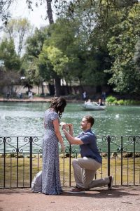 Putting the engagement ring on