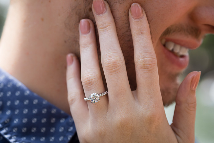 e-ring closeup portrait