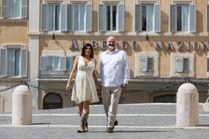 Walking in the streets of Rome