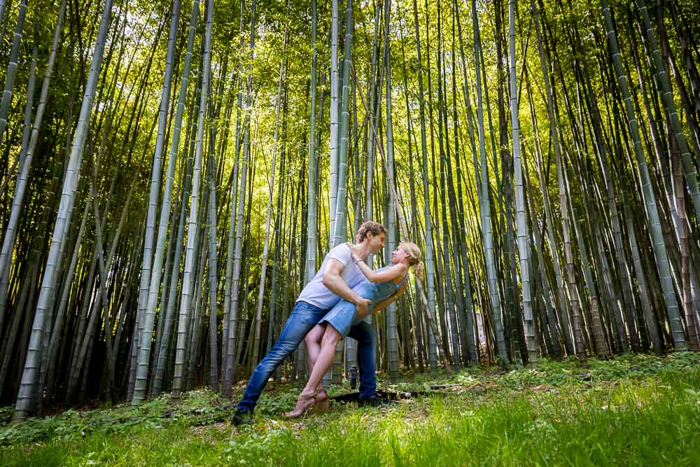 Bamboo forest photoshoot. Image by Andrea Matone photographer. Rome, Italy