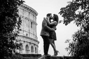Black and white photography at the Roman Colosseum