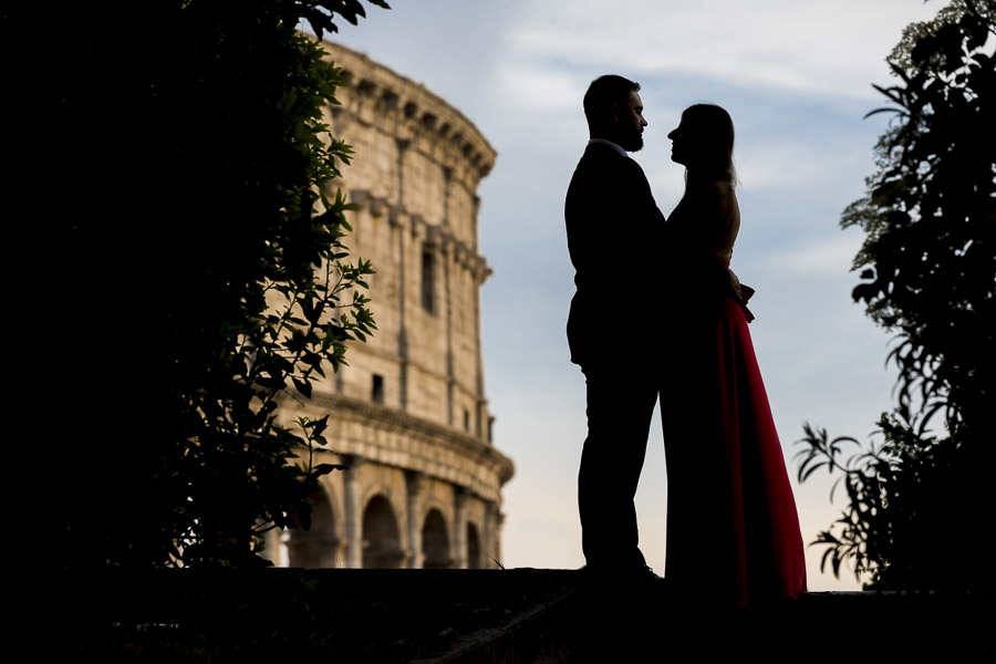 Silhouette image at the Colosseum