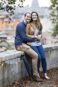 Couple portrait posed for an engagement photograph