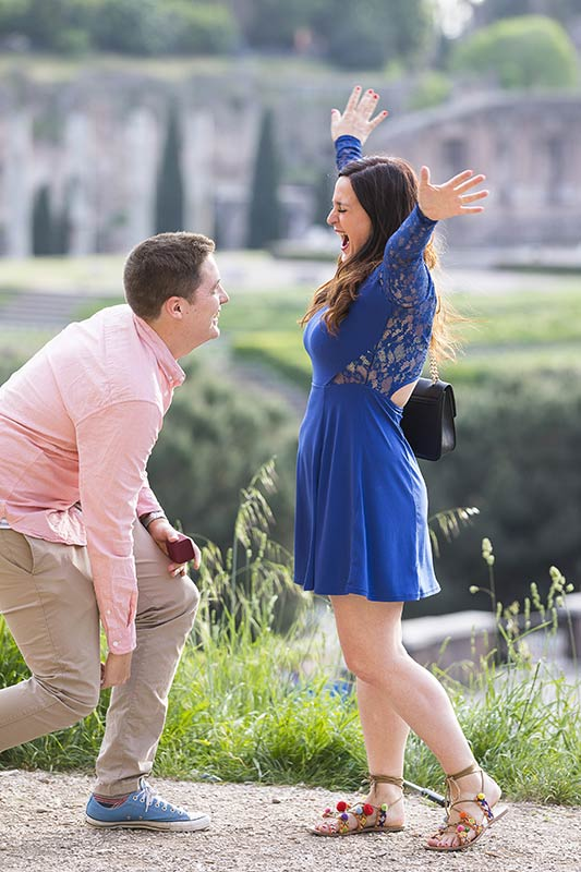 Jumping for Joy! Selfie Photo Surprise Proposal