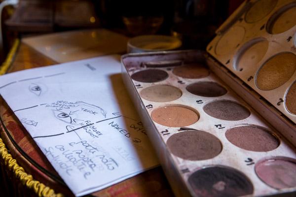 Make up color palette and sketch