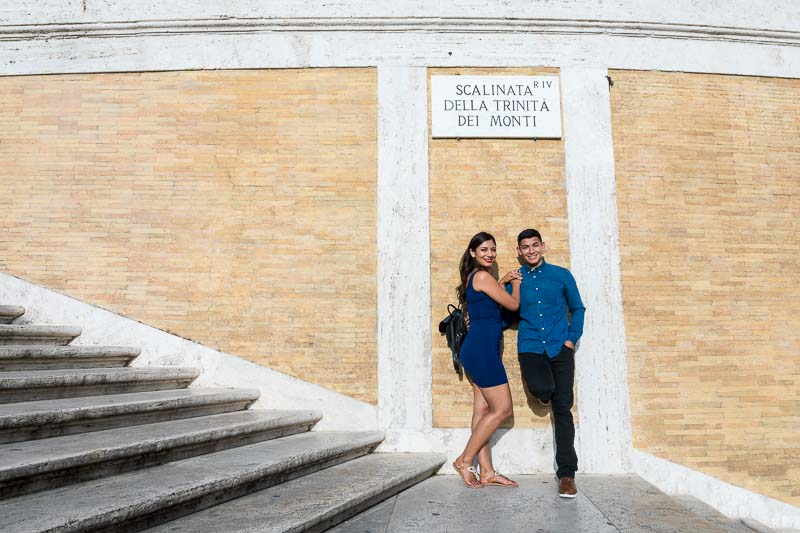 Couple portrait on the spanish steps