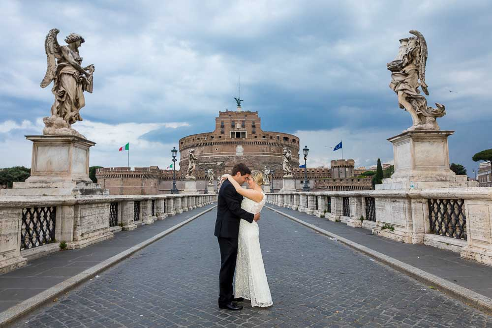 Early morning session wedding photography in Rome Italy