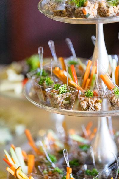 Finger food closeup during a reception