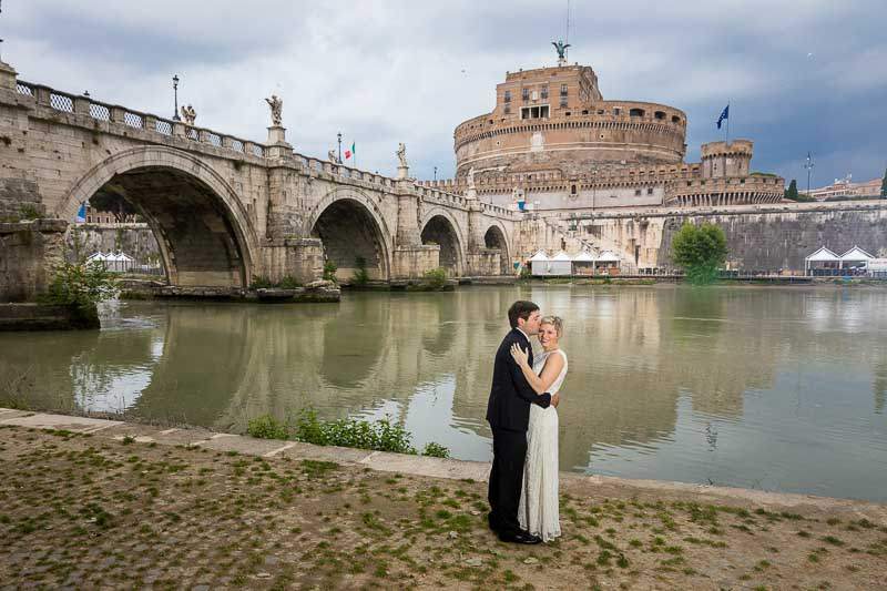 Just married couple photography honeymoon photo session at the Castle of the Holy Angel