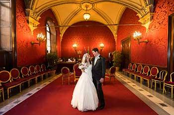 Campidoglio's sala rossa wedding town hall in Rome