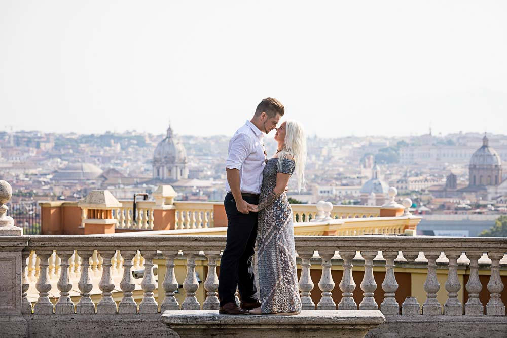 She said yes image shot overlooking the roman skyline