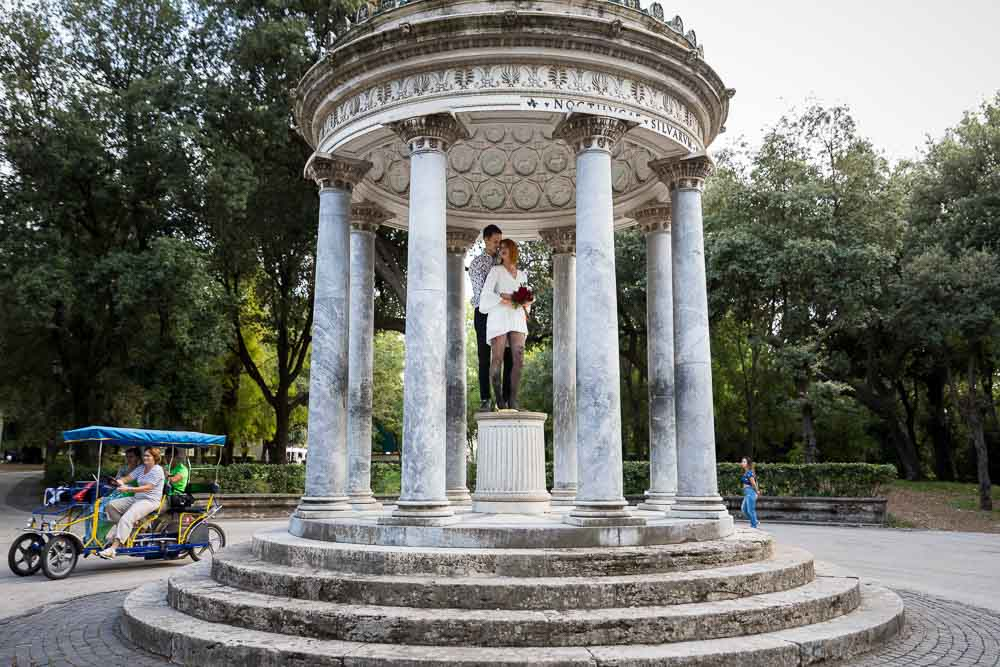 Temple of Diana photo shoot while walking around the park