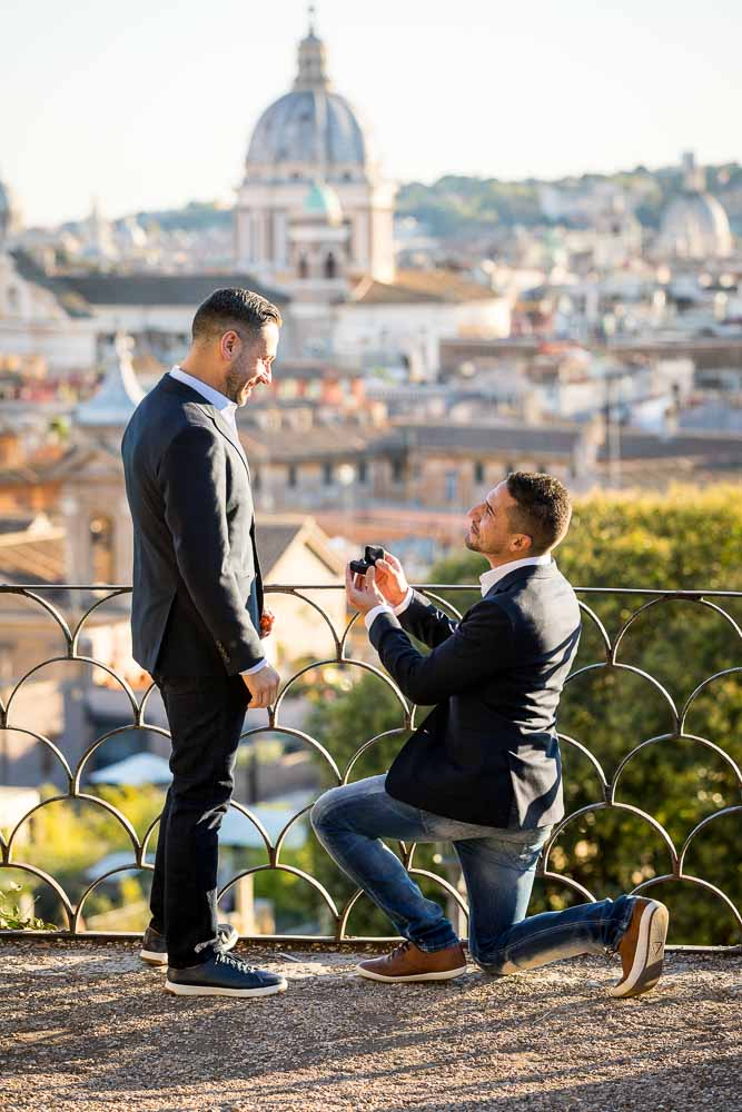 Proposing back with a ring presentation