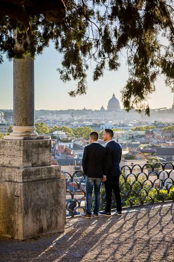 Looking at the beautiful Rome scenery from a distance