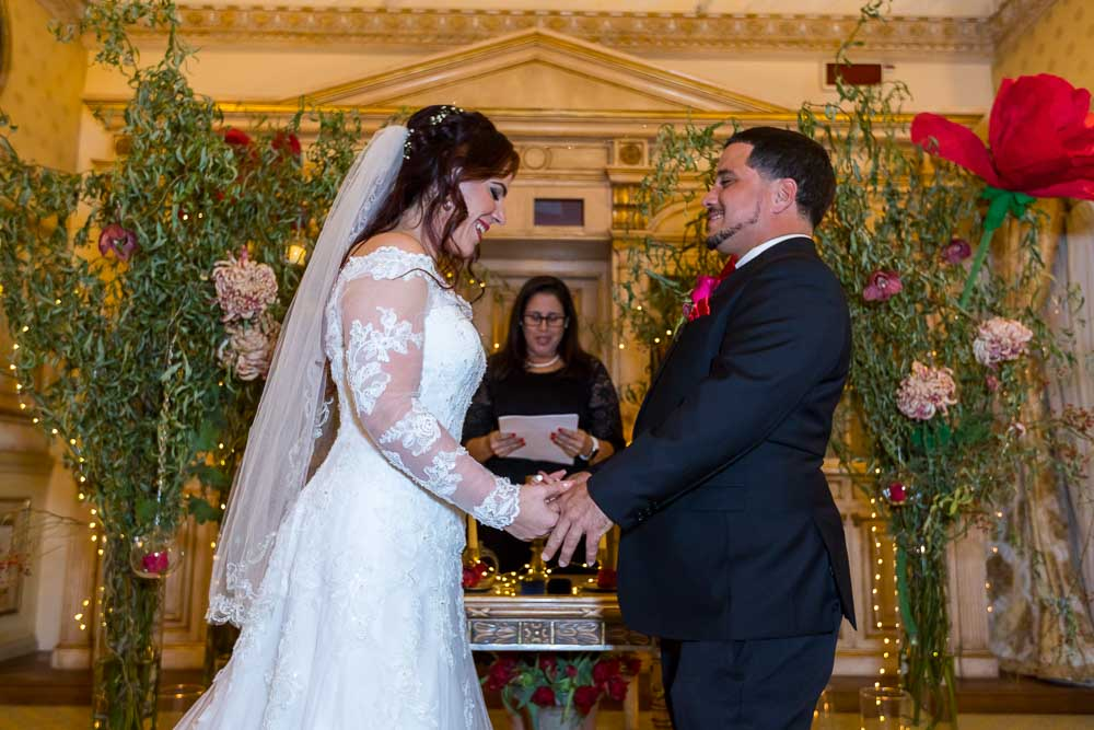 Getting married in a private ceremony