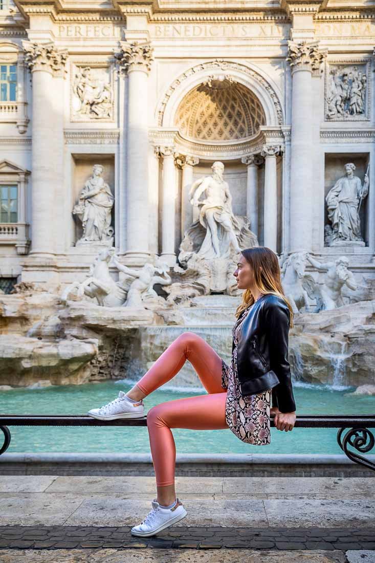 Trevi fountain Rome model photoshoot