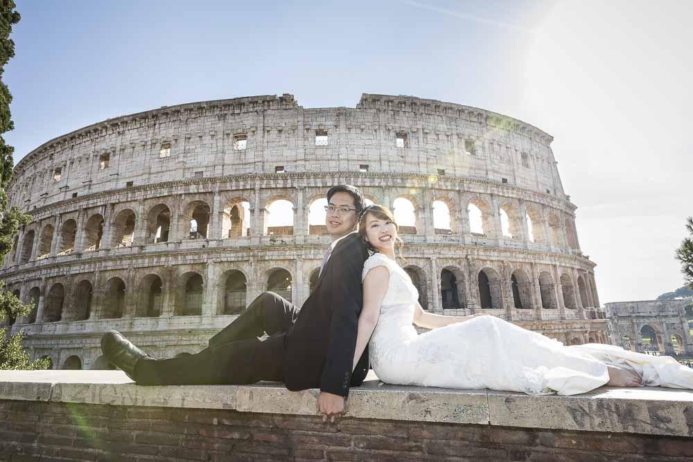 Final portrait picture before the ancient roman Colosseum