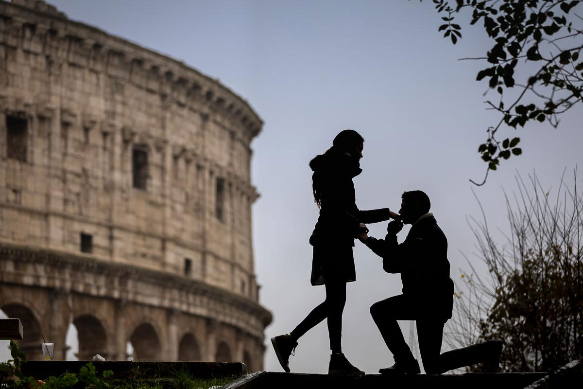 Rome Surprise Wedding Proposal photography by the Andrea Matone photographer studio