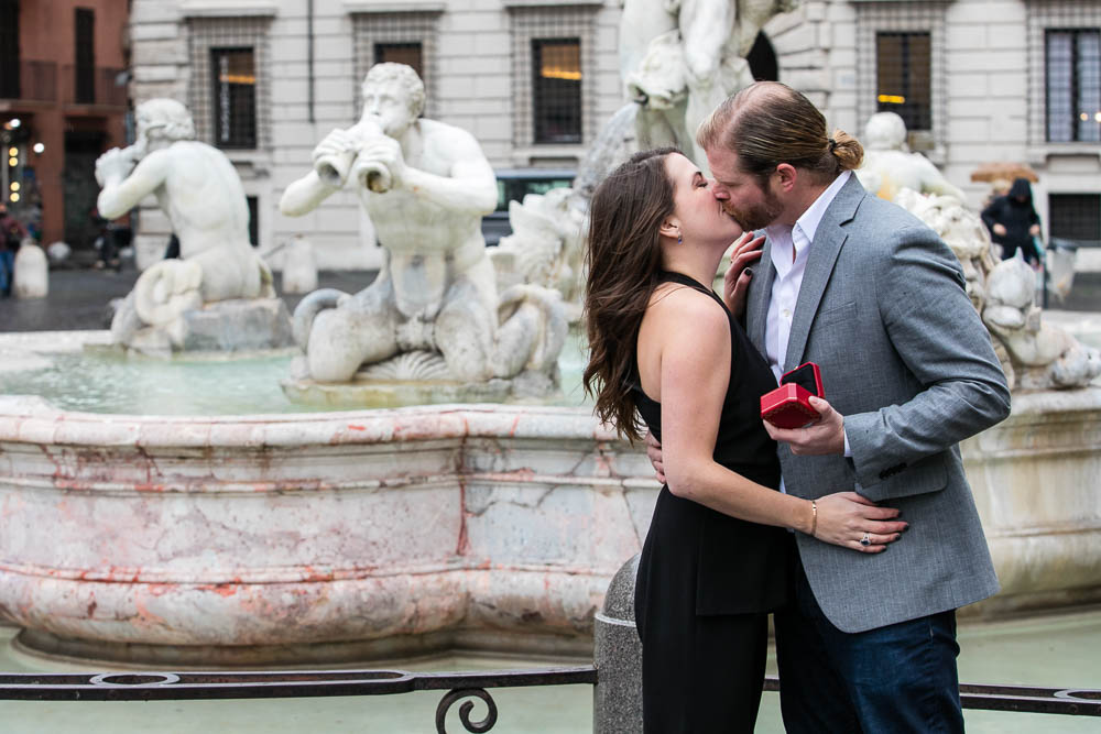 She said yes image photographed by one of Piazza navona scenic water fountains