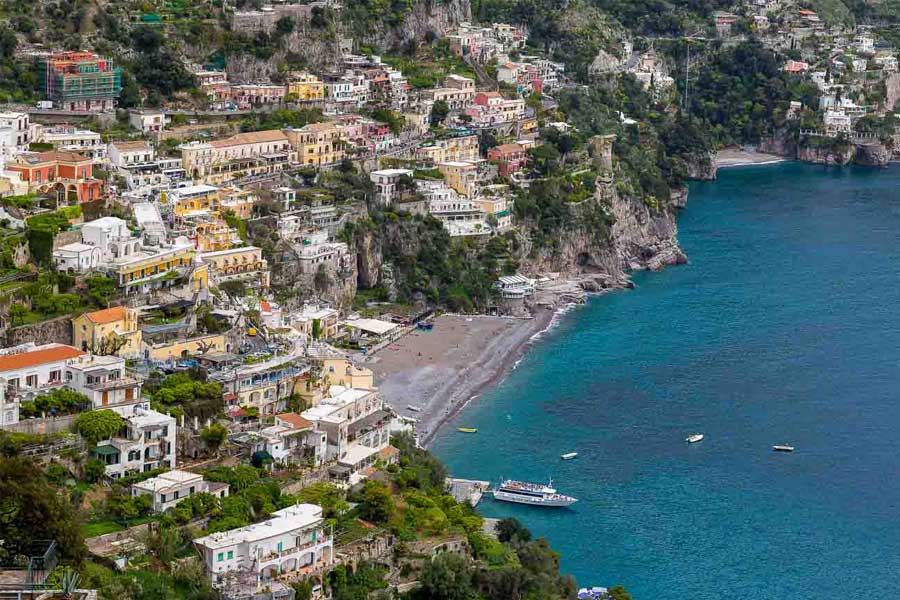 The town of Positano. Amalfi coast. Italy