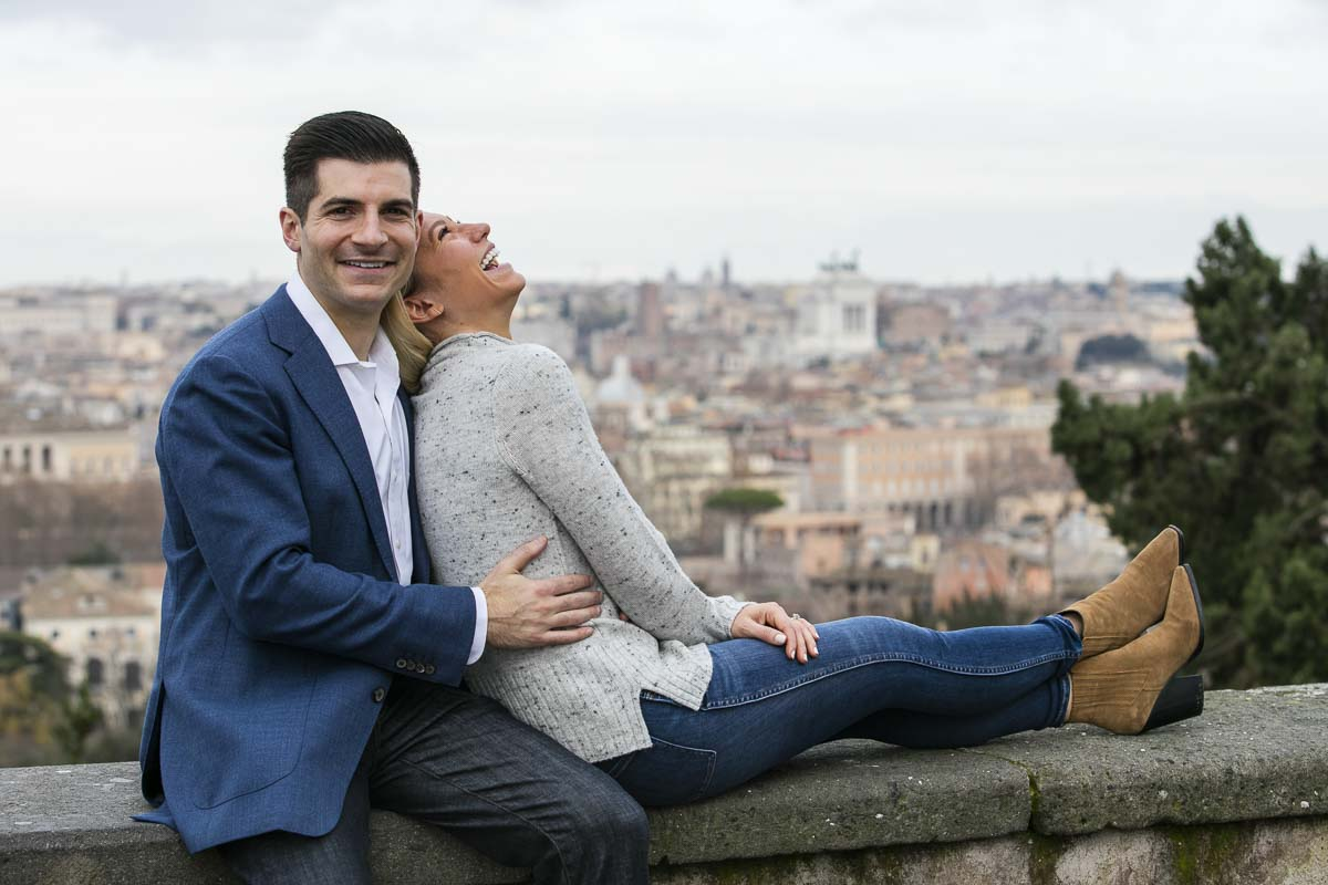 Couple having fun during a photo session