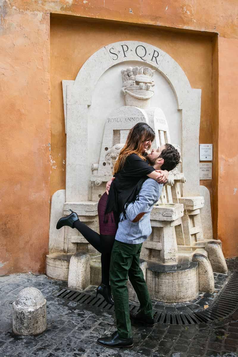 In love in Rome photo session