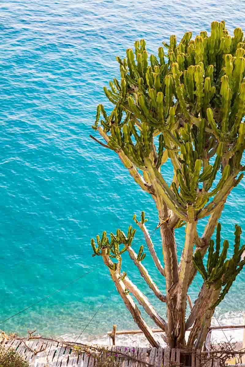 The mediterranean sea on the Amalfi coast