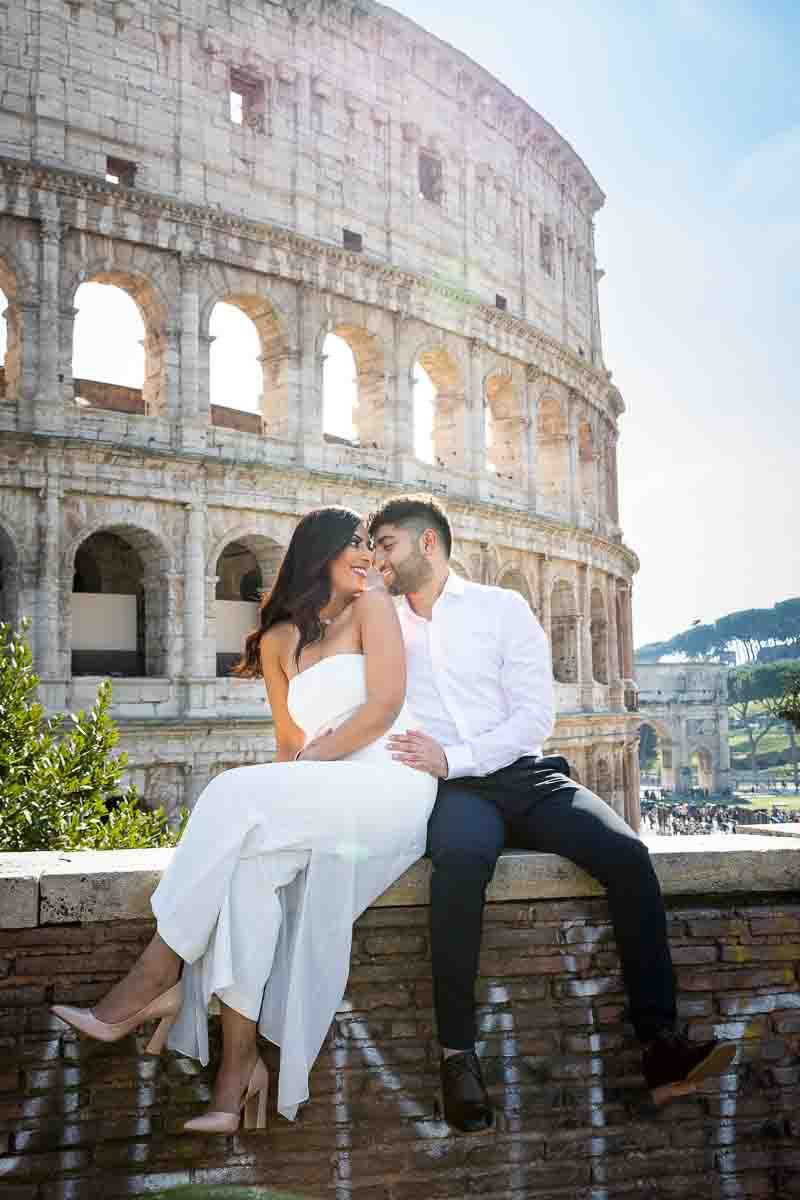 Married couple during a Rome Wedding Photographer session at the Roman Colosseum