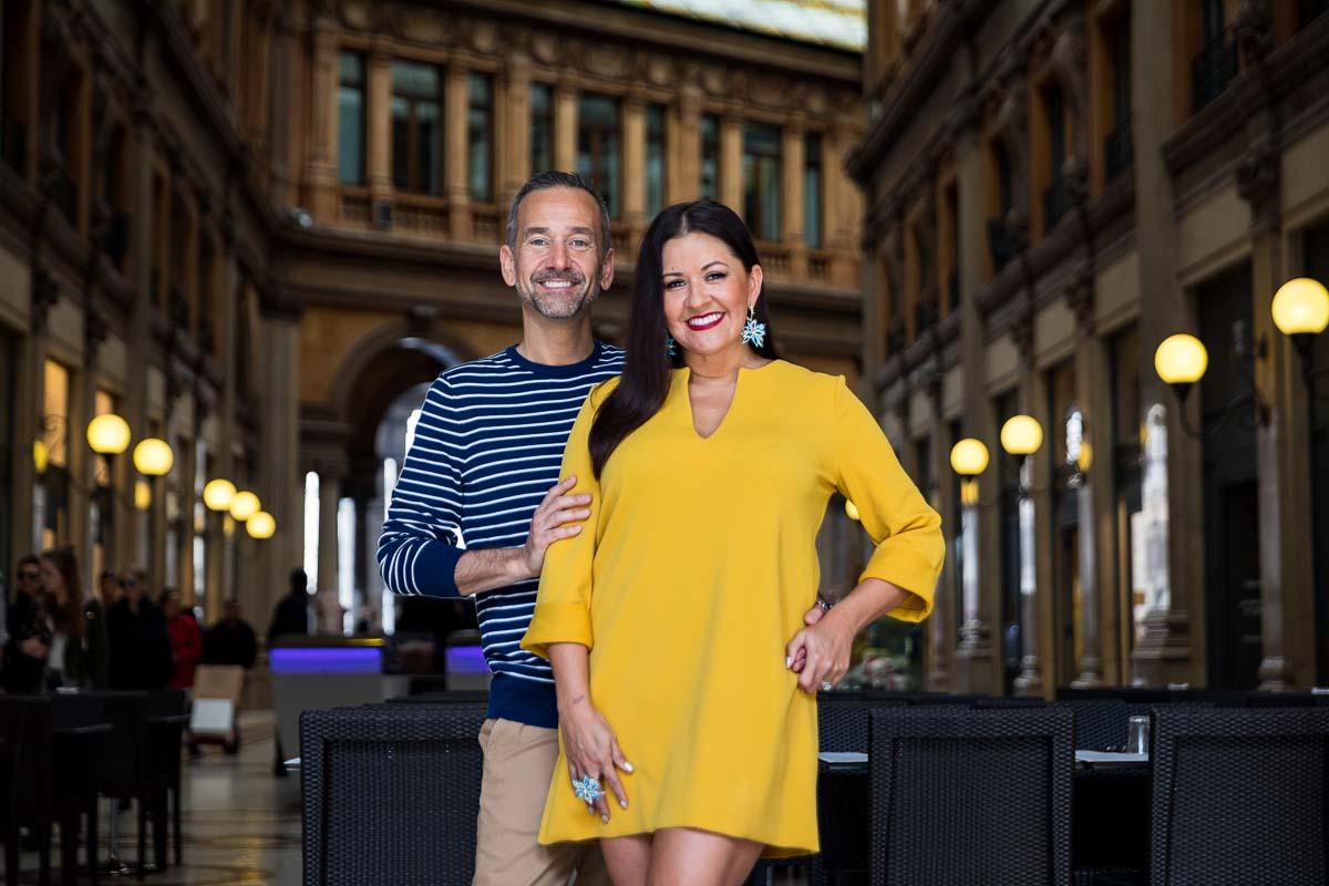 Indoor couple portrait picture