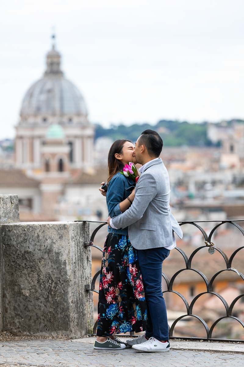 Just engaged in Rome! She said yes image after asking the big question