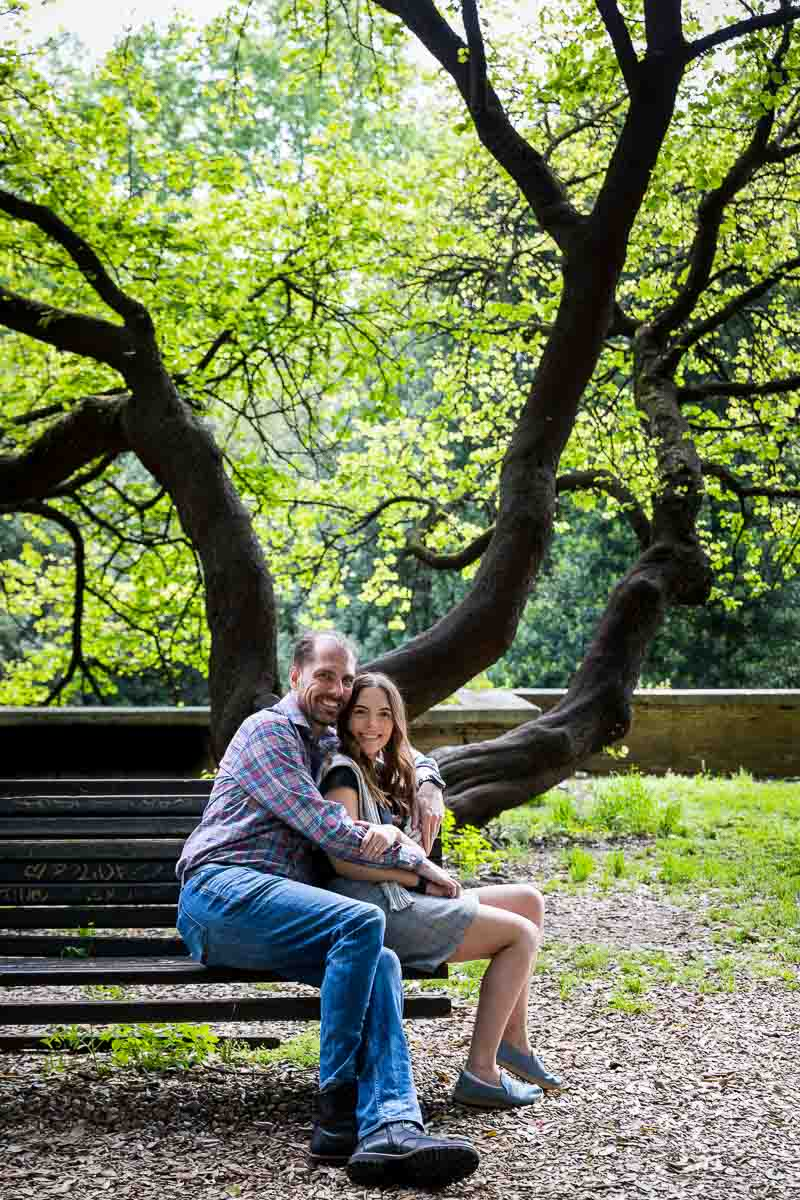Couple portrait under a tree
